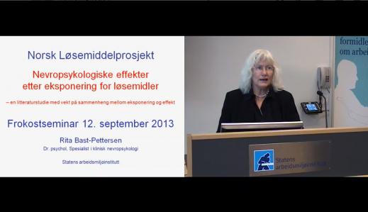 Fremhevet bilde fra «Nevropsykologiske effekter etter eksponering for løsemidler»