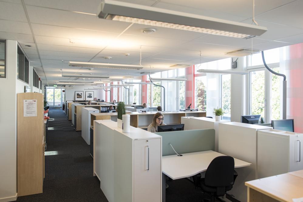 Illustrasjonsbilde kontorlandskap