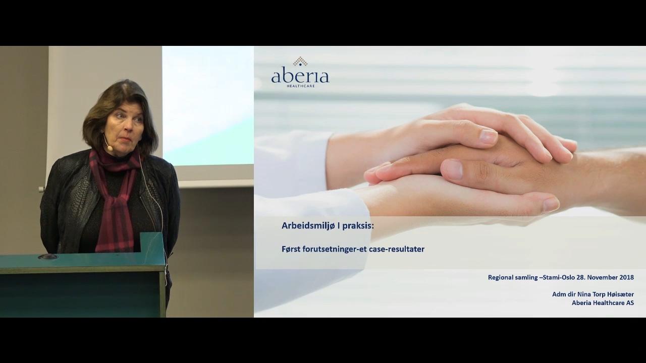 Fremhevet bilde fra «Arbeidsmiljøsamling Oslo: 7. Arbeidsmiljøarbeid i praksis – Aberia Healthcare»