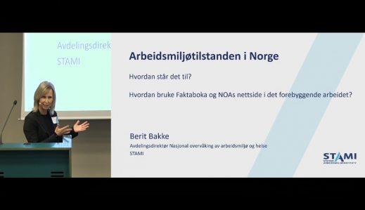 Fremhevet bilde fra «Arbeidsmiljøsamling Oslo: 2. Arbeidsmiljøtilstanden i Norge – fakta fra NOA»