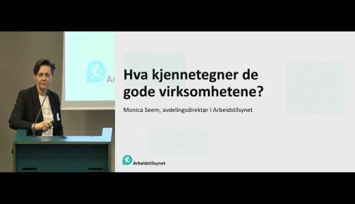 Fremhevet bilde fra «Arbeidsmiljøsamling Oslo: 3. Arbeidstilsynet – Hva kjennetegner de gode virksomhetene»