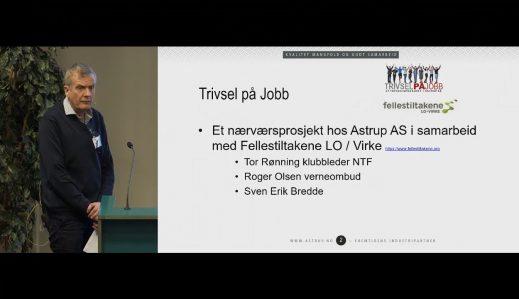 Fremhevet bilde fra «Arbeidsmiljøsamling Oslo – 5. Arbeidsmiljøarbeid i praksis: Astrup»