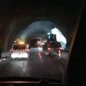 Bilde av ferdigstilling av tunnel.