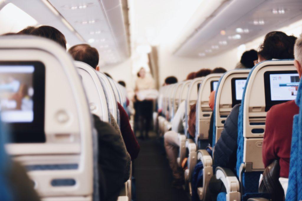 Bilde av kabin på fly