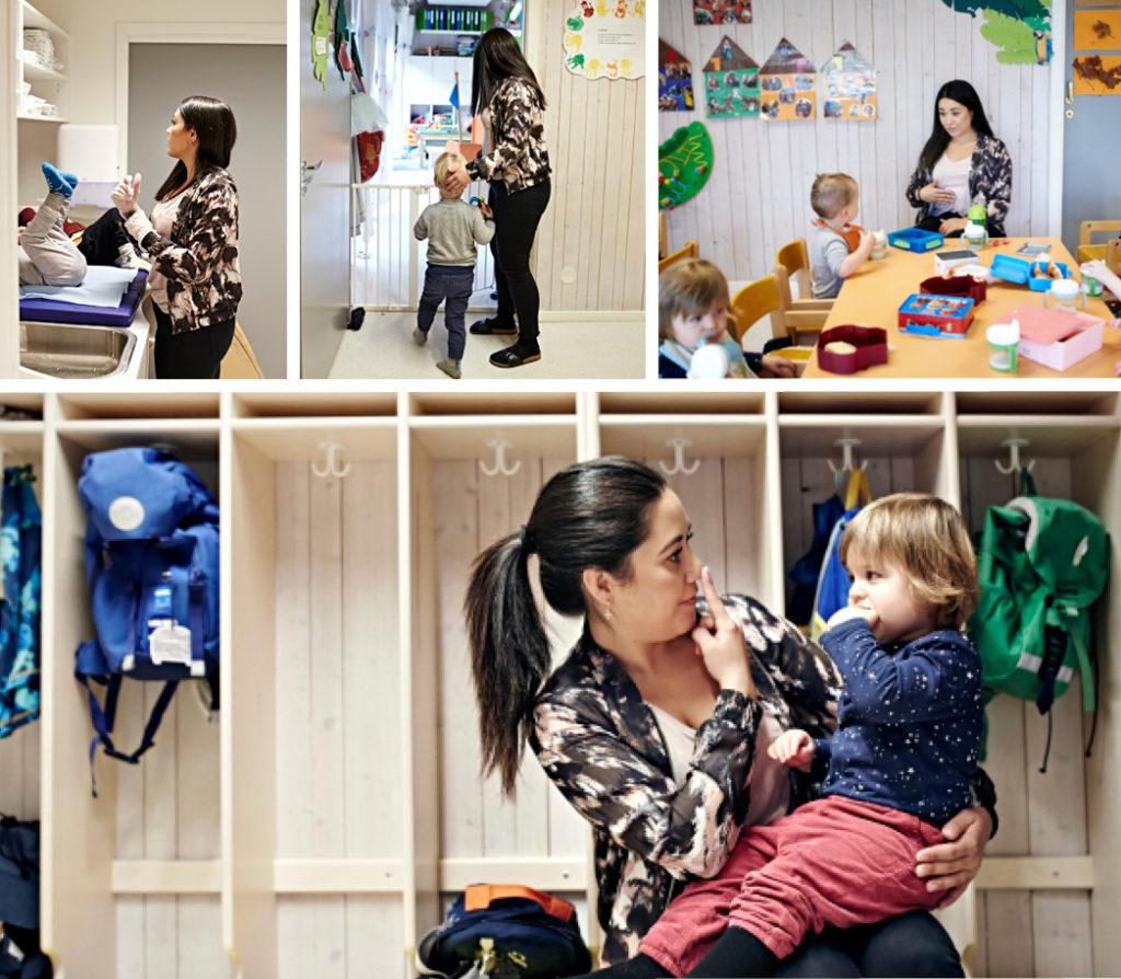 Bilde av Daniela Dambuen i en normal arbeidsdag ved småbarnsavdelingen